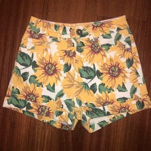 Bullhead Denim Co Mom Sunflower Shorts